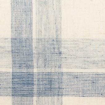 コットン&リネン混×チェック(キナリ&ブルーグレー)×シーチング サムネイル1