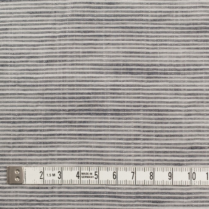 コットン&リネン×ボーダー(チャコールグレー)×ボイルワッシャー イメージ4