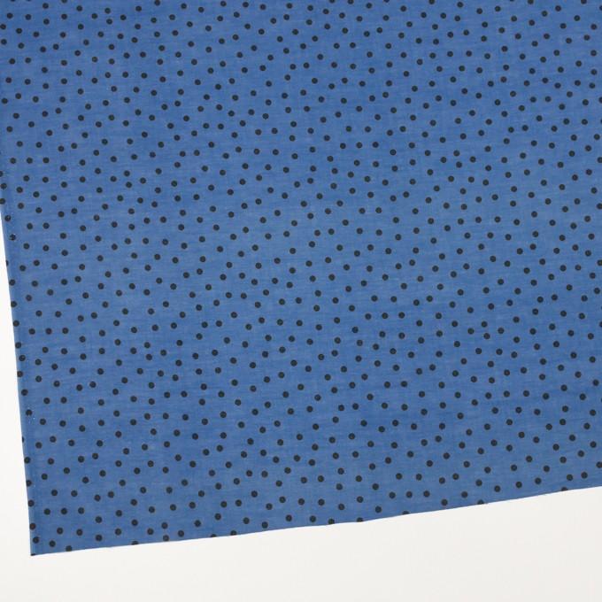 コットン×水玉(アッシュブルー)×ボイル_全3色 イメージ2