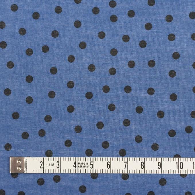 コットン×水玉(アッシュブルー)×ボイル_全3色 イメージ4