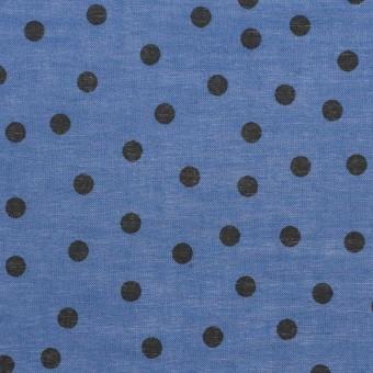 コットン×水玉(アッシュブルー)×ボイル_全3色 サムネイル1
