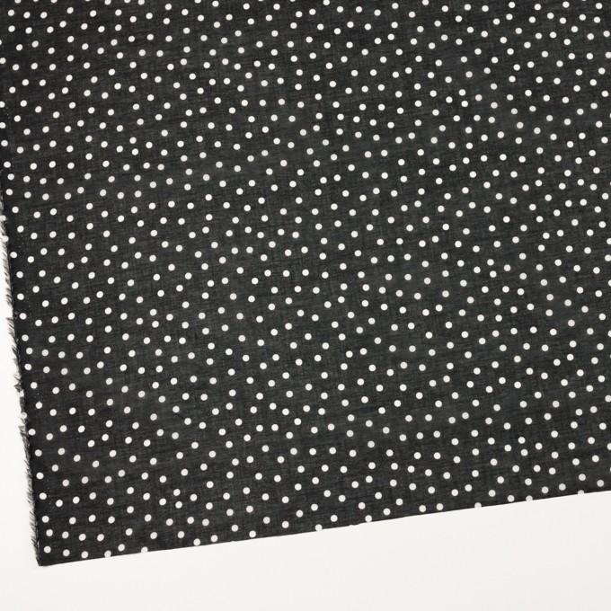 コットン×水玉(ブラック)×ボイル_全3色 イメージ2