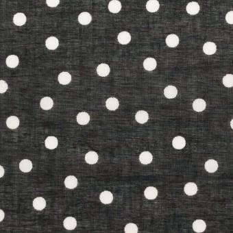 コットン×水玉(ブラック)×ボイル_全3色 サムネイル1