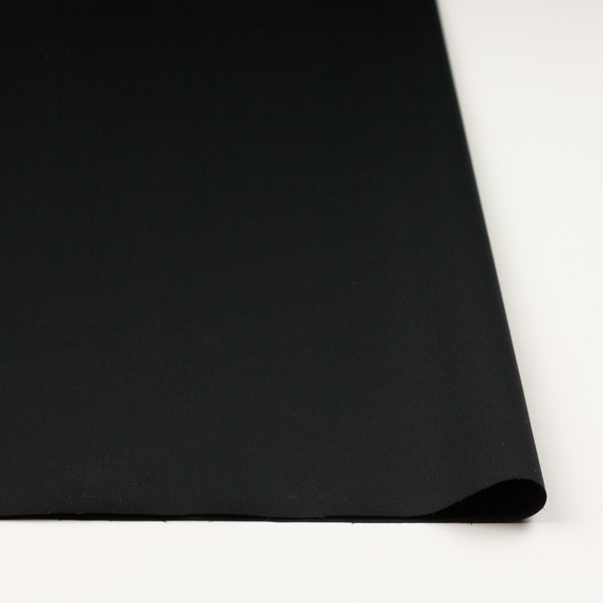 コットン&ポリウレタン×無地(ブラック)×サテンストレッチ イメージ3