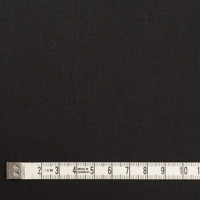 コットン&ポリウレタン×無地(ブラック)×チノクロス・ストレッチ イメージ4