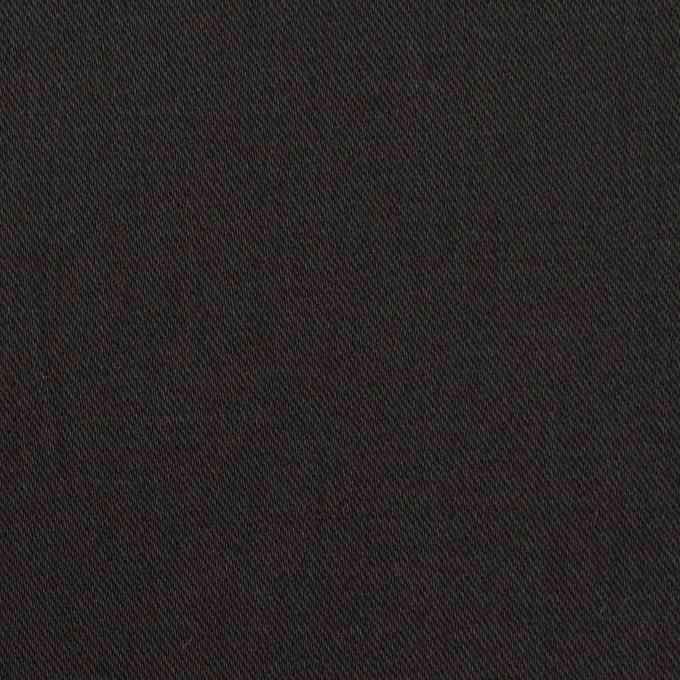 コットン&ポリウレタン×無地(ブラック)×チノクロス・ストレッチ イメージ1