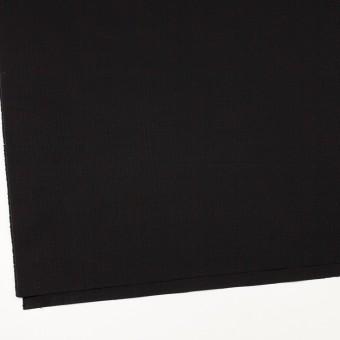 コットン&ポリウレタン×無地(ブラック)×リップストップ・ストレッチ サムネイル2