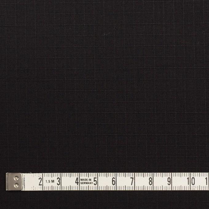 コットン&ポリウレタン×無地(ブラック)×リップストップ・ストレッチ イメージ4
