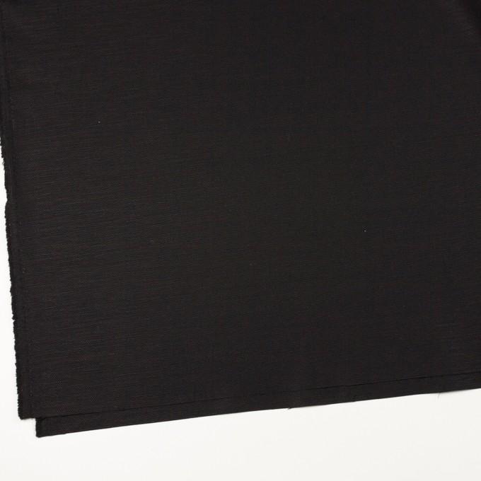 コットン&リネン混×無地(ブラック)×キャンバス・ストレッチ イメージ2