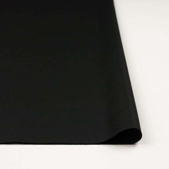 コットン&リネン混×無地(ブラック)×キャンバス・ストレッチ イメージ3
