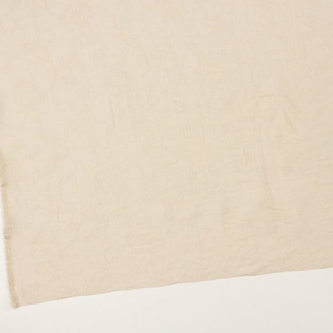 コットン&ナイロン×フラワー(キナリ)×オーガンジー・ジャガード_全3色 イメージ2