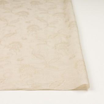 コットン&ナイロン×フラワー(キナリ)×オーガンジー・ジャガード_全3色 サムネイル3