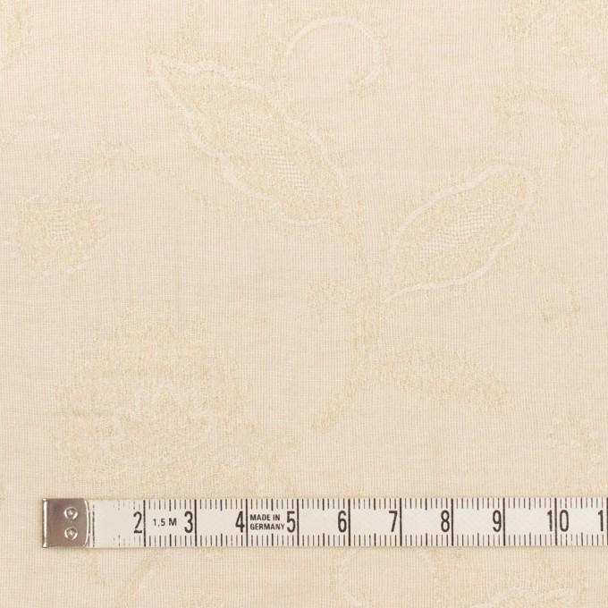 コットン&ナイロン×フラワー(キナリ)×オーガンジー・ジャガード_全3色 イメージ4
