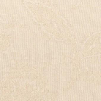 コットン&ナイロン×フラワー(キナリ)×オーガンジー・ジャガード_全3色 サムネイル1