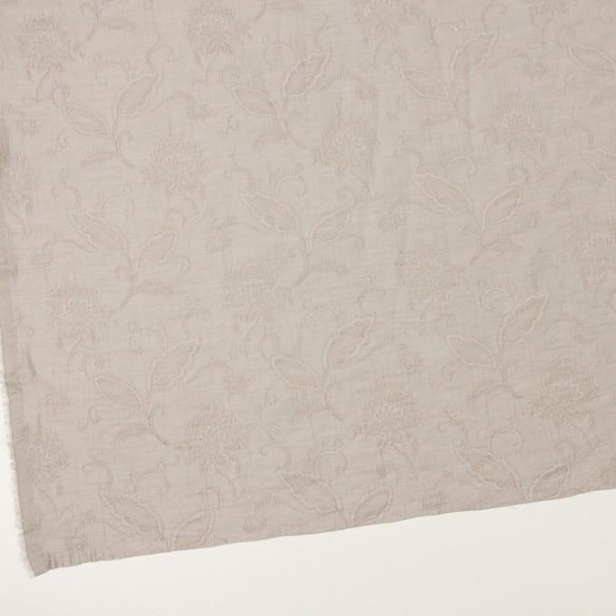 コットン&ナイロン×フラワー(パールグレー)×オーガンジー・ジャガード_全3色 イメージ2