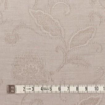 コットン&ナイロン×フラワー(パールグレー)×オーガンジー・ジャガード_全3色 サムネイル4