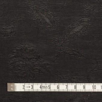 コットン&ナイロン×フラワー(ブラック)×オーガンジー・ジャガード_全3色 サムネイル4