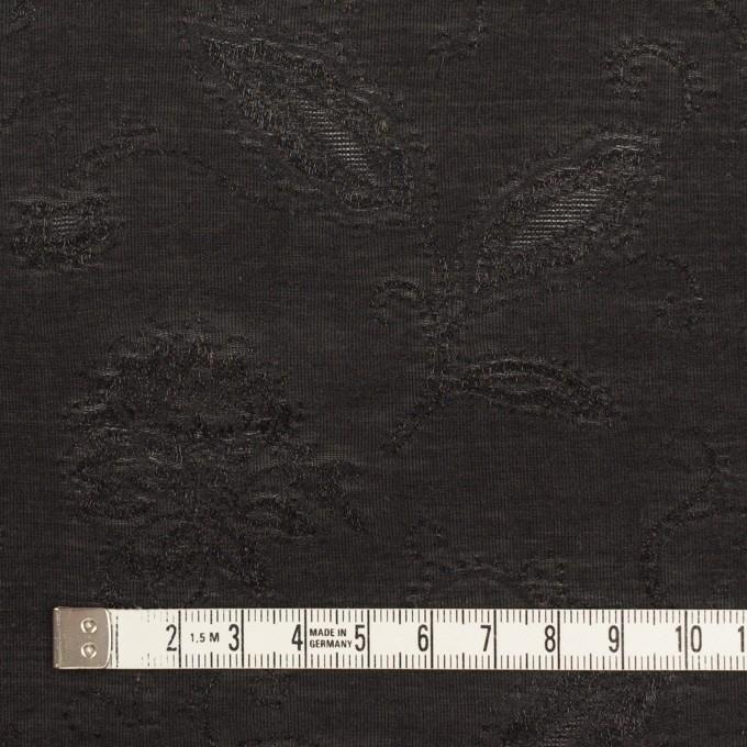 コットン&ナイロン×フラワー(ブラック)×オーガンジー・ジャガード_全3色 イメージ4