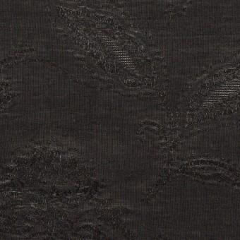 コットン&ナイロン×フラワー(ブラック)×オーガンジー・ジャガード_全3色 サムネイル1
