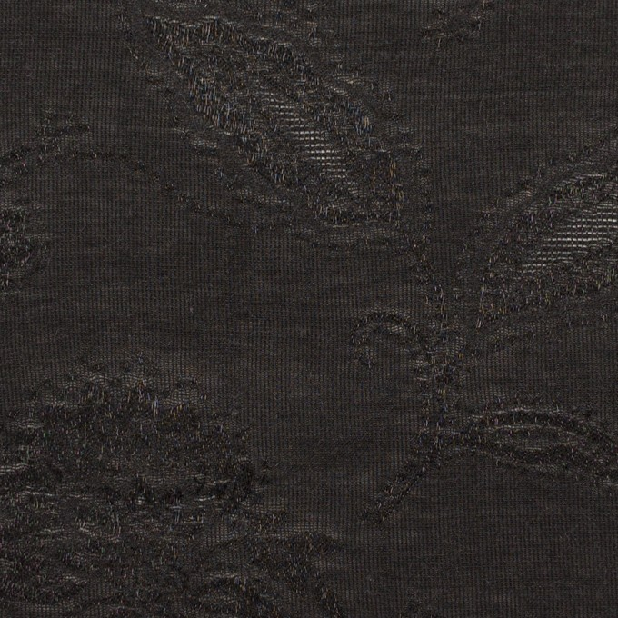 コットン&ナイロン×フラワー(ブラック)×オーガンジー・ジャガード_全3色 イメージ1