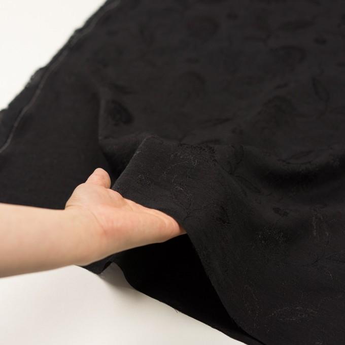 コットン&ナイロン×フラワー(ブラック)×オーガンジー・ジャガード_全3色 イメージ5