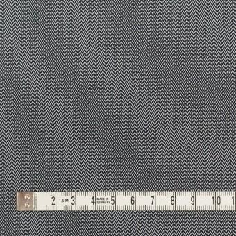 コットン&ポリエステル混×ミックス(チャコールグレー)×ヘリンボーン サムネイル4