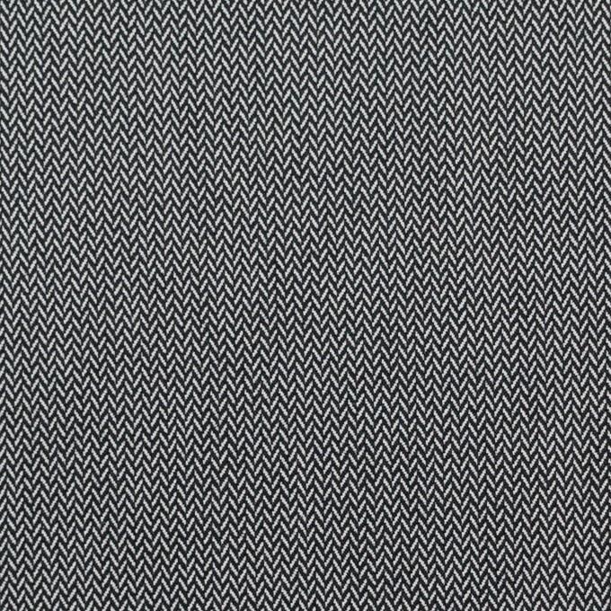 コットン&ポリエステル混×ミックス(チャコールグレー)×ヘリンボーン イメージ1