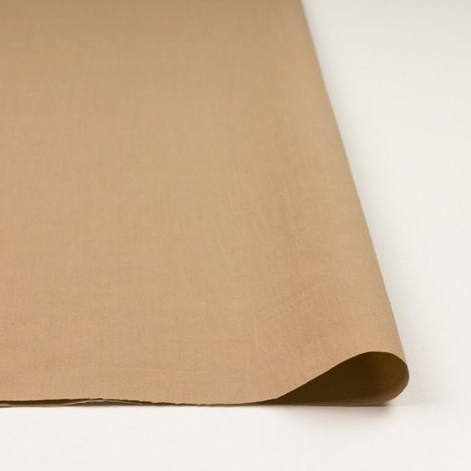 リネン&ビスコース混×無地(オークル)×シーチング・ストレッチ_全2色_イタリア製 イメージ3