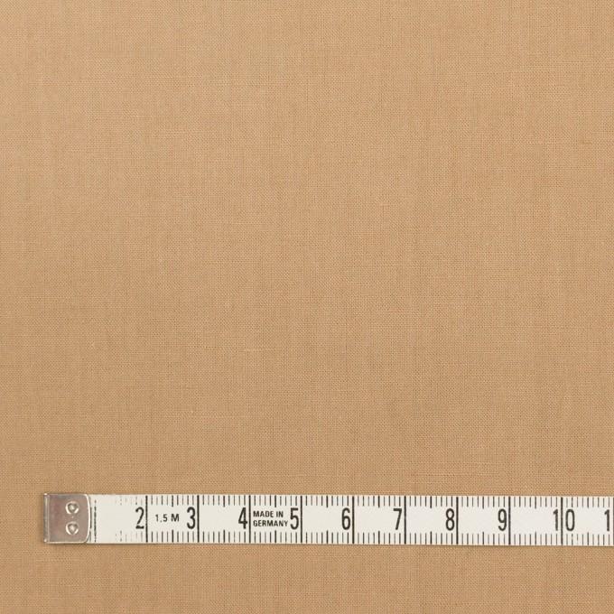 リネン&ビスコース混×無地(オークル)×シーチング・ストレッチ_全2色_イタリア製 イメージ4