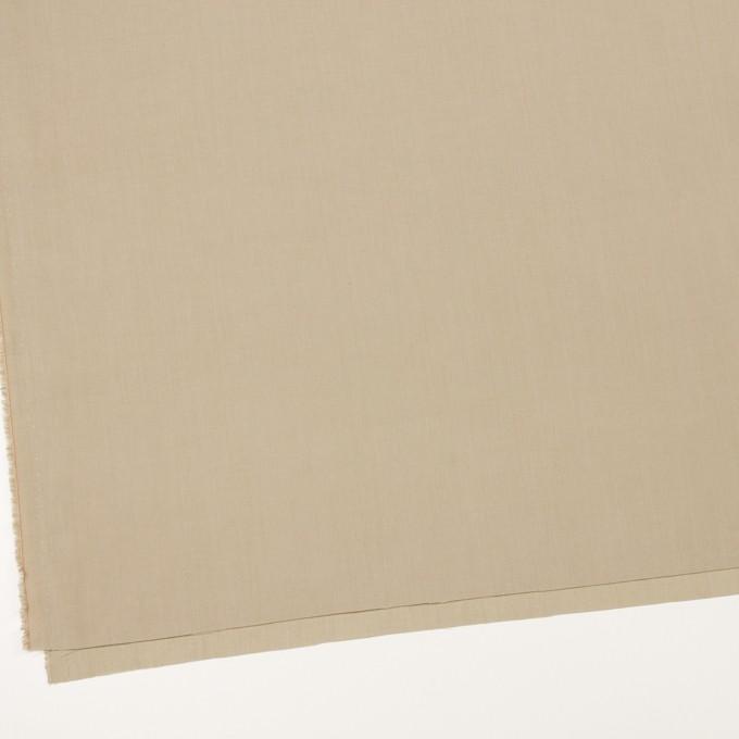 リネン&コットン混×無地(カーキ)×ポプリン_全3色_イタリア製 イメージ2