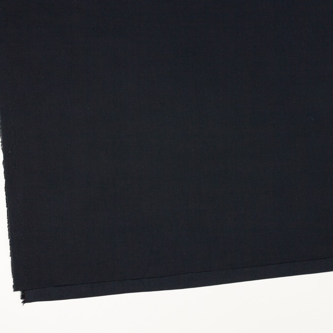 リネン&コットン混×無地(ダークネイビー)×ポプリン_全3色_イタリア製 イメージ2