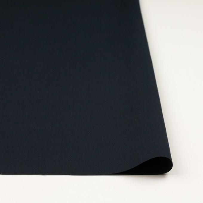 リネン&コットン混×無地(ダークネイビー)×ポプリン_全3色_イタリア製 イメージ3