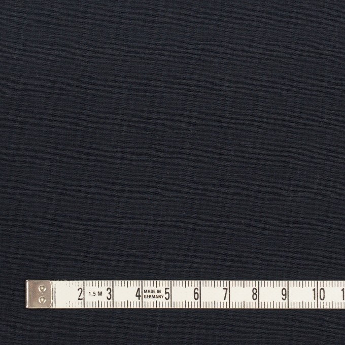 リネン&コットン混×無地(ダークネイビー)×ポプリン_全3色_イタリア製 イメージ4