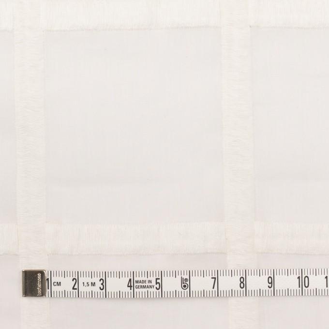 コットン×チェック(オフホワイト)×ボイル刺繍 イメージ4