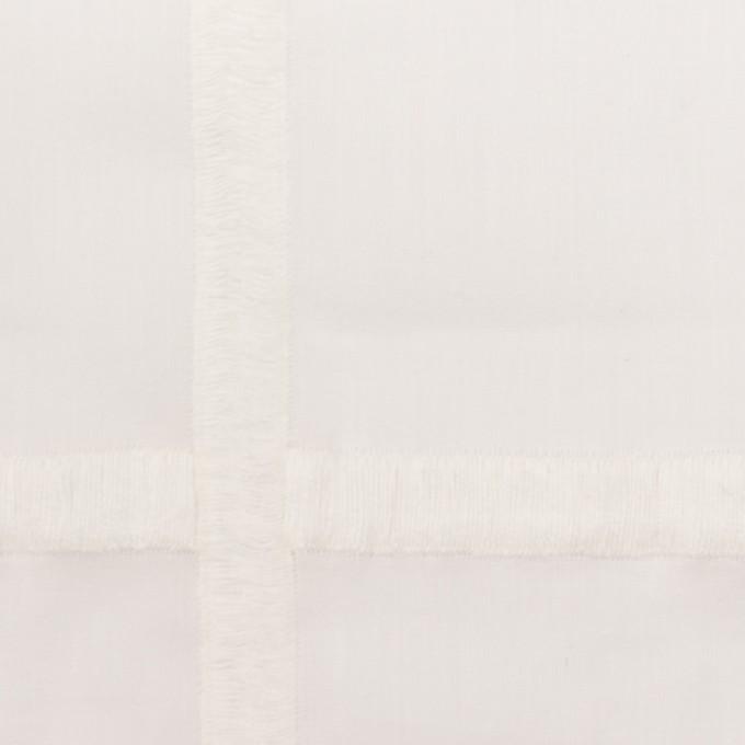 コットン×チェック(オフホワイト)×ボイル刺繍 イメージ1