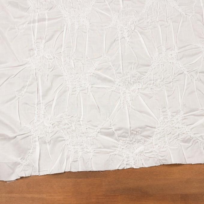 コットン×幾何学模様(オフホワイト)×ローンシャーリング刺繍_全2色 イメージ2