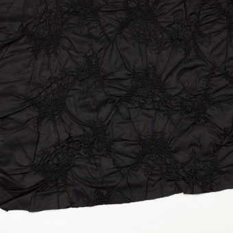 コットン×幾何学模様(ブラック)×ローンシャーリング刺繍_全2色 サムネイル2