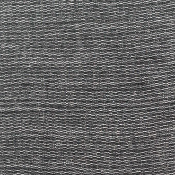 コットン&レーヨン×無地(チャコールグレー)×シャンブレー イメージ1