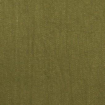 コットン&ポリウレタン×無地(カーキグリーン)×かわり織ストレッチ_全2色 サムネイル1