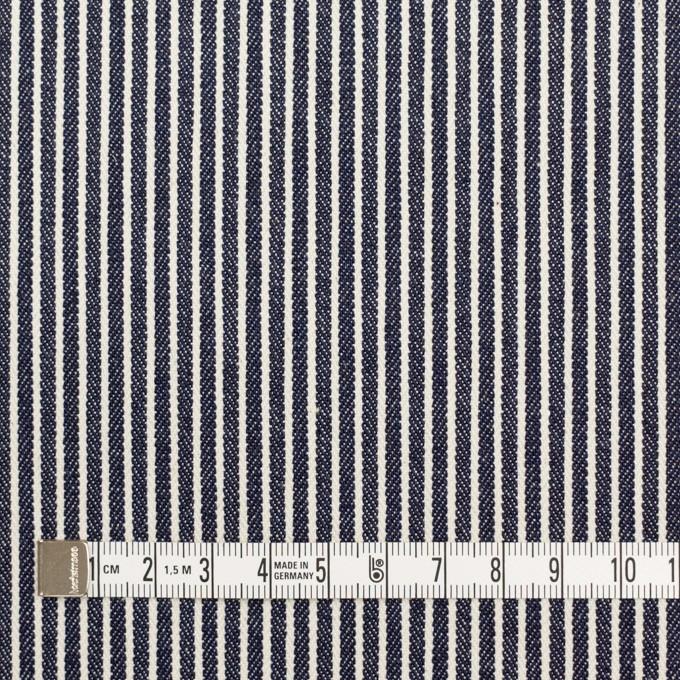コットン&ポリウレタン×ストライプ(インディゴ)×デニムヒッコリー・ストレッチ(9oz) イメージ4