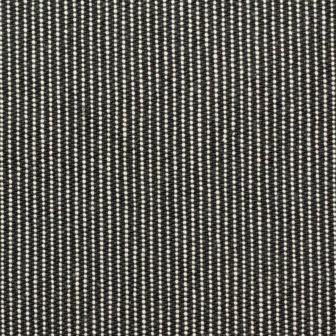 コットン×ストライプ(チャコールグレー)×キャンバス イメージ1