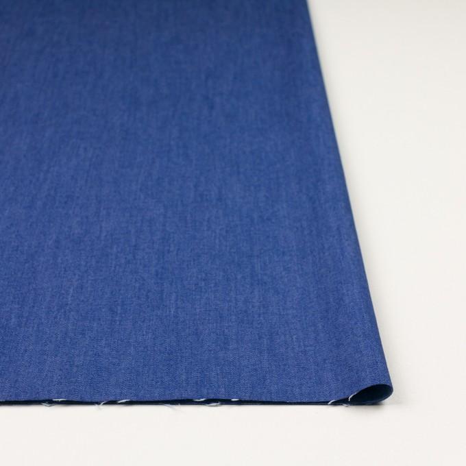 コットン&ポリウレタン×無地(オリエンタルブルー)×デニムストレッチ(7oz) イメージ3