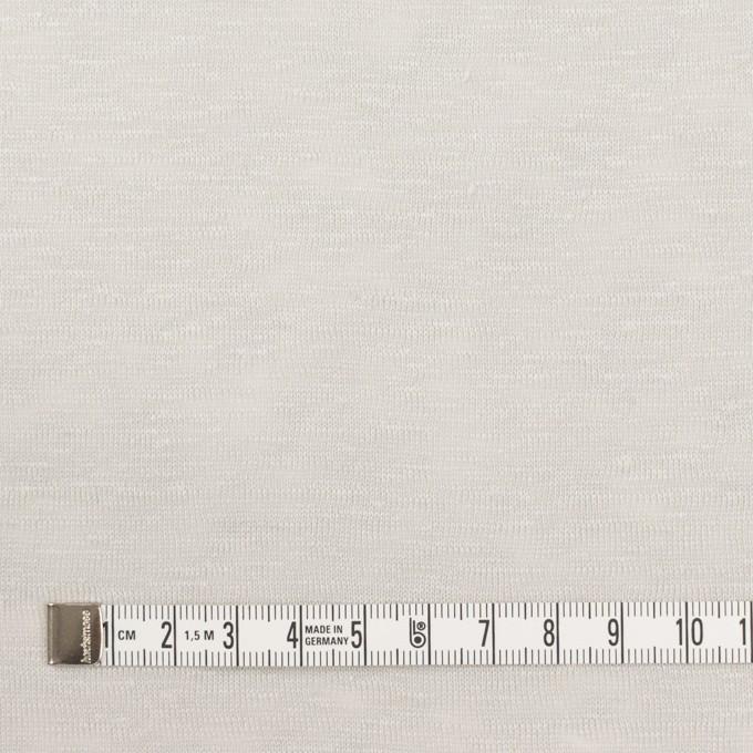 リネン×無地(ライトグレー)×天竺ニット イメージ4