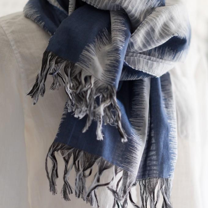 二重織ジャガードのストールキット(アッシュブルー) イメージ4