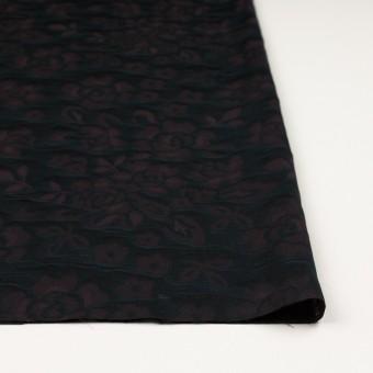 【150cmカット】コットン×フラワー(ビターチョコレート)×二重織ジャガード サムネイル3