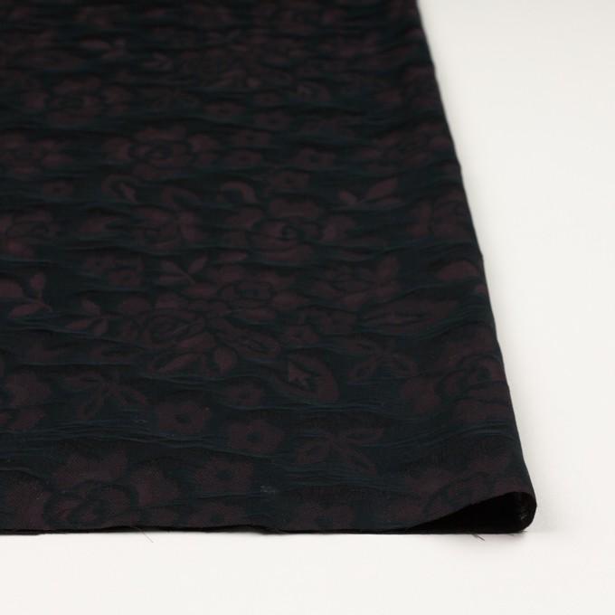 【150cmカット】コットン×フラワー(ビターチョコレート)×二重織ジャガード イメージ3