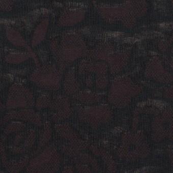コットン×フラワー(ビターチョコレート)×二重織ジャガード