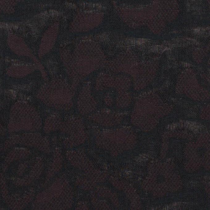 コットン×フラワー(ビターチョコレート)×二重織ジャガード イメージ1