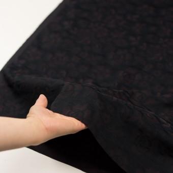 【150cmカット】コットン×フラワー(ビターチョコレート)×二重織ジャガード サムネイル5