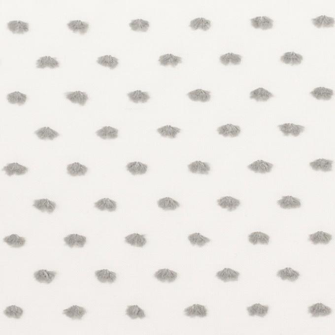コットン×ドット(グレー)×ボイルカットジャガード イメージ1